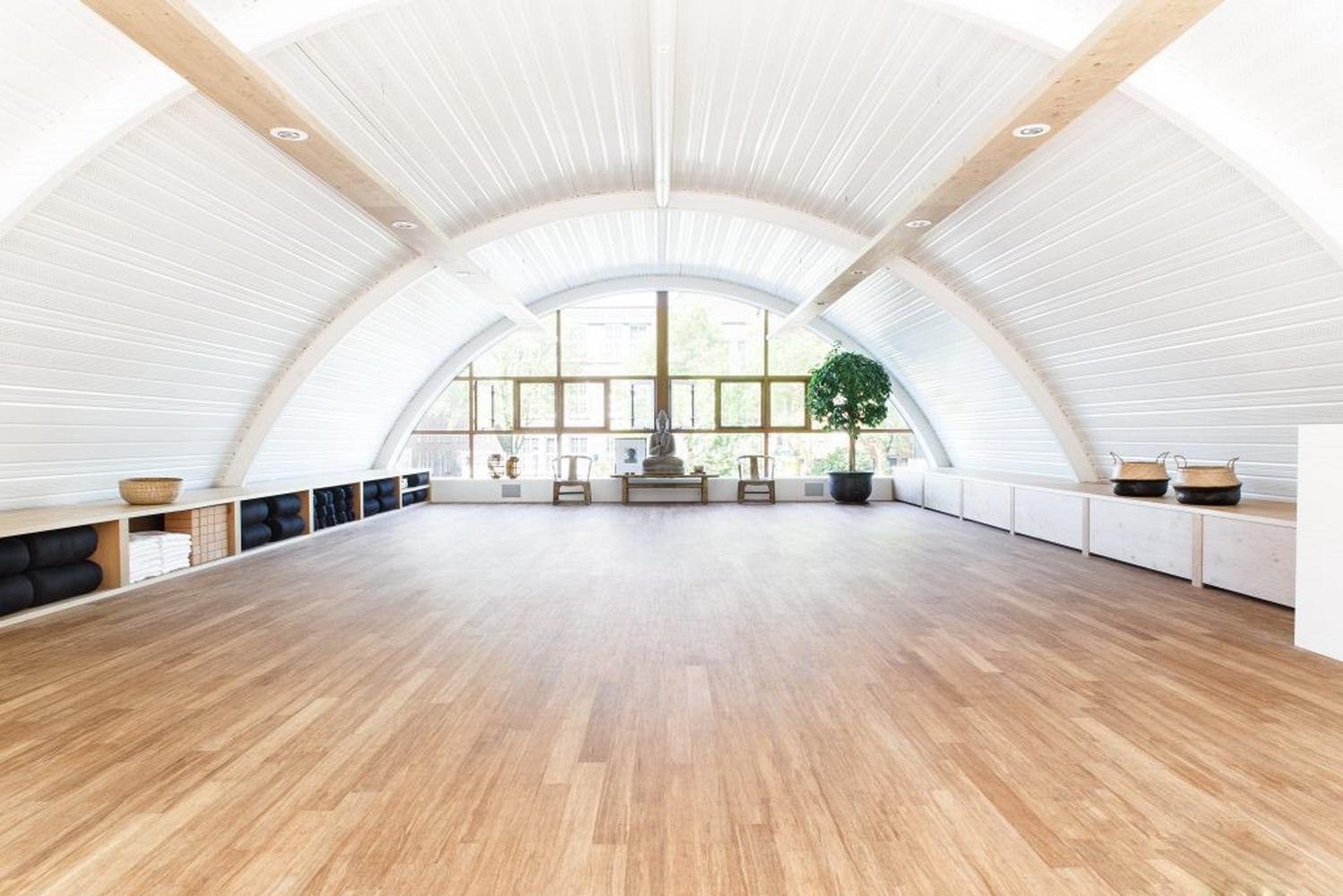 简约印式瑜伽馆室内装修效果图