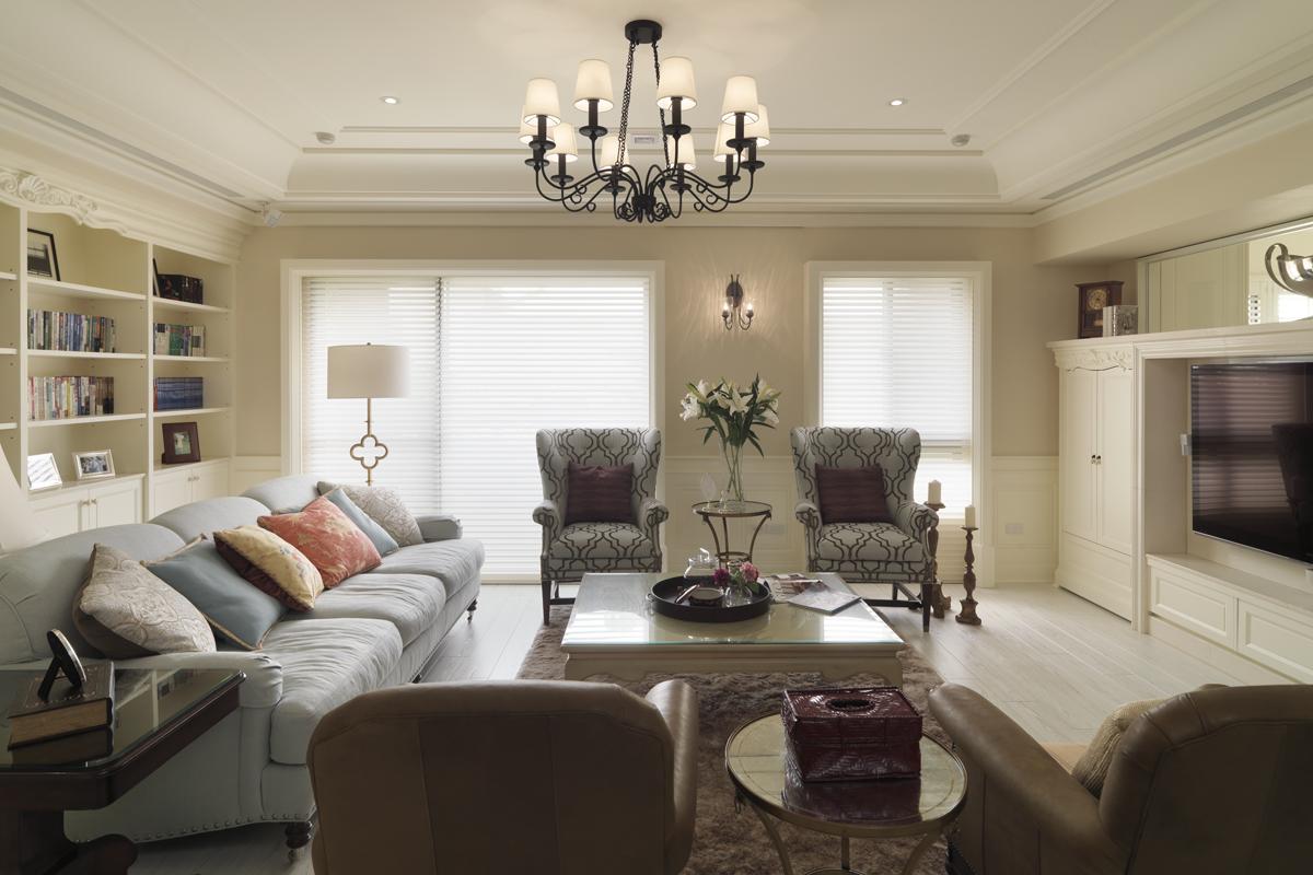 四居室现代简约个性明快的美式风格
