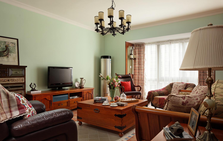 美式风三室一厅装修效果图南山维拉