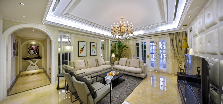 欧式三室一厅装修效果图 建屋吴郡半岛