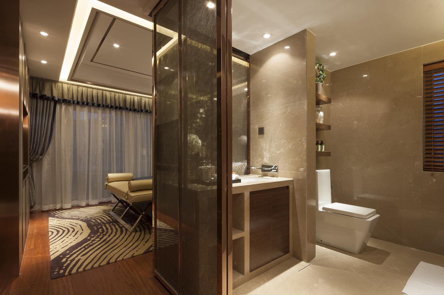 轻奢美式卫生间设计案例