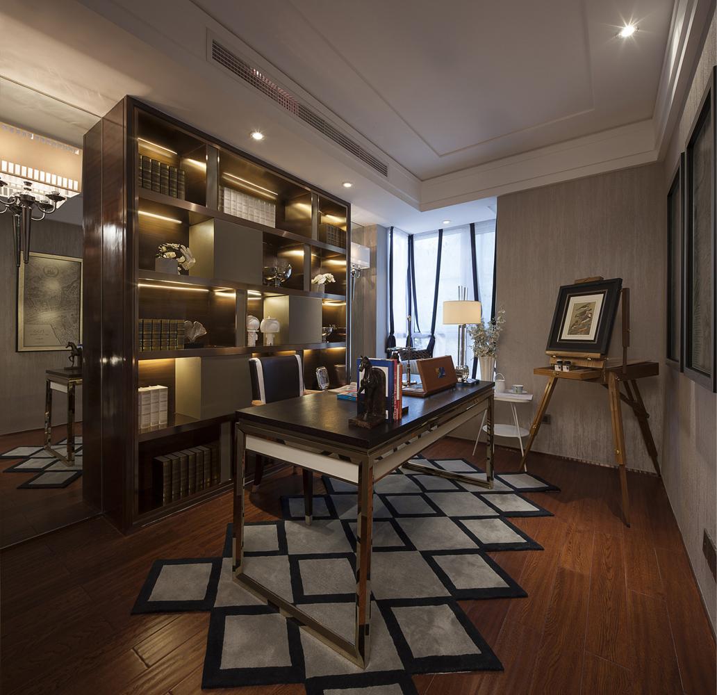 轻奢美式书房设计案例