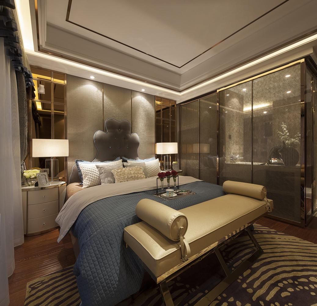 轻奢美式卧室设计案例