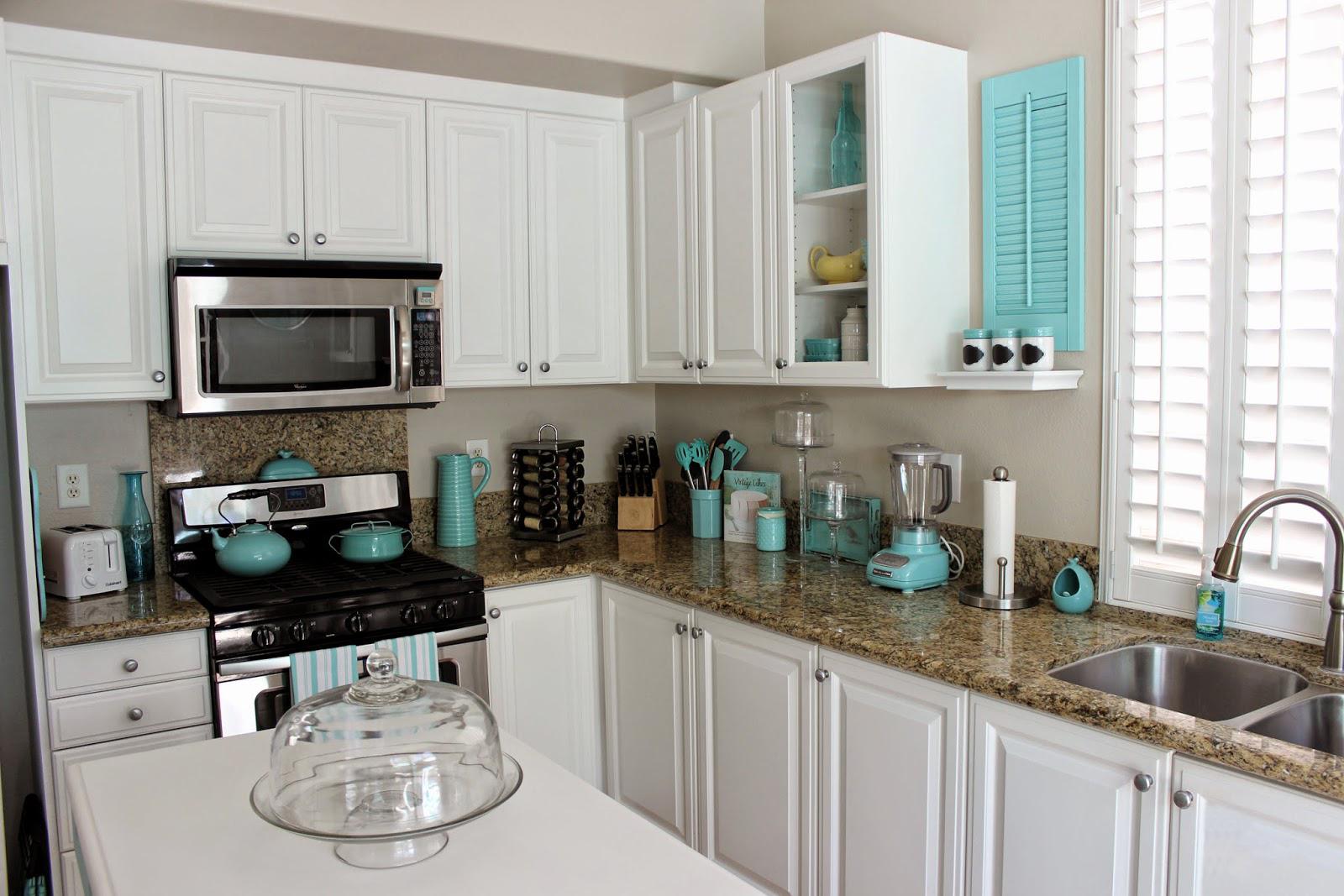 蓝色,新美式风格设计,橱柜厨房
