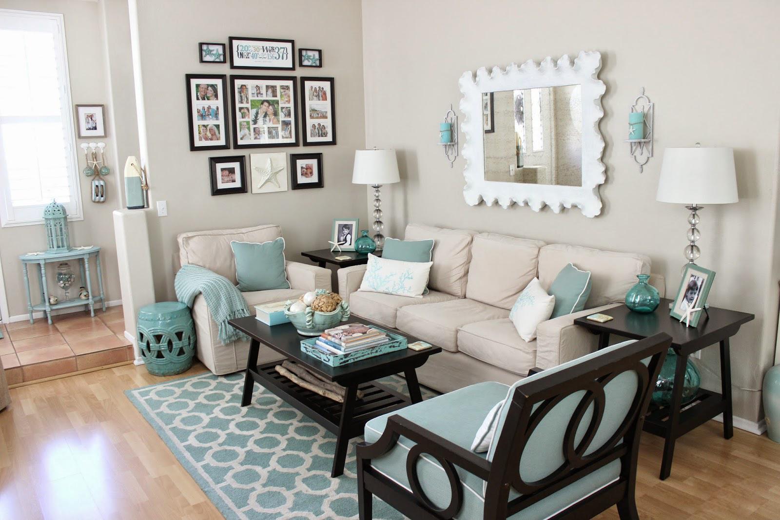 诠释着爱与美的蓝色客厅