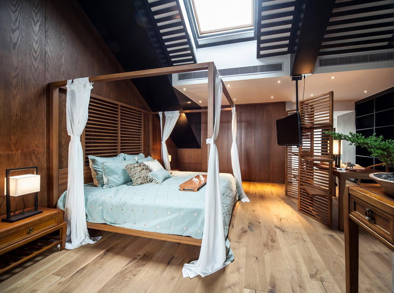 别墅新中式卧室