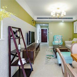 綠色配色客廳效果圖