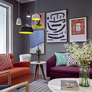 客廳時尚顏色擺件