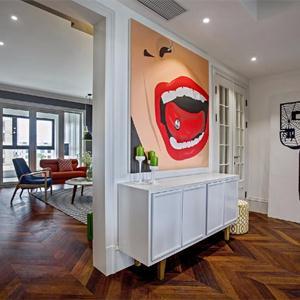驚艷的客廳壁畫