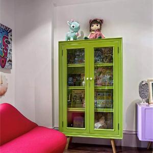 綠色實用美觀玩具收納柜
