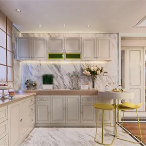 歐式廚房櫥柜裝修效果圖