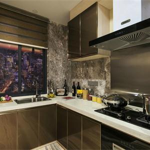 棕色廚房裝修效果圖