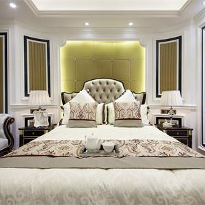 法式臥室背景墻設計