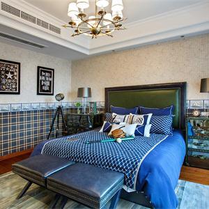 118㎡保利城簡歐臥室風格案例