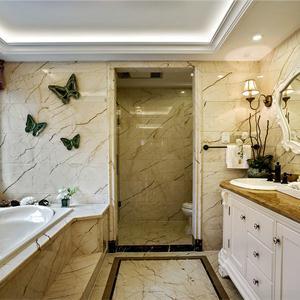古典欧式别墅洗手间装修效果图