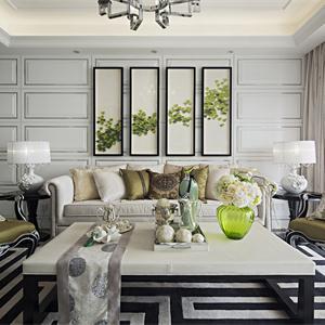 法式古典风格别墅客厅装修效果图