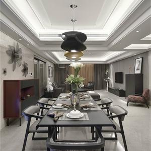 现代中式风格三居餐厅装修效果图