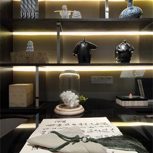 简约中式别墅书房装修效果图