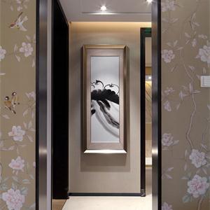 160平米中式风格玄关装修效果图