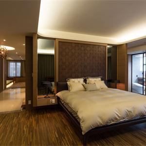 160㎡中式风格卧室装修效果图