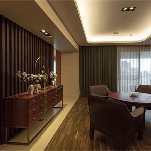 简约中式别墅客厅装修效果图