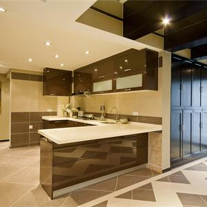 簡約中式別墅廚房裝修效果圖