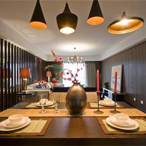 160㎡中式風格餐廳裝修效果圖