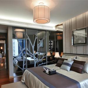 簡約中式別墅臥室裝修效果圖