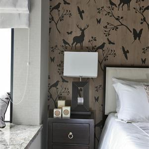 中式風格三居室臥室裝修效果圖