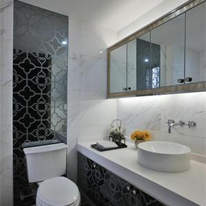 140㎡现代简约风格卫生间装修设计图