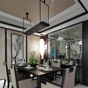 110平米中式风格餐厅装修效果图