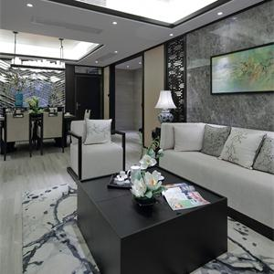 现代简约风装修效果图两室一厅客厅