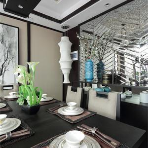 简约中式风格餐厅装修效果图