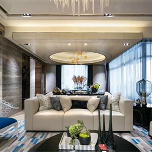 新古典美式风格四居客厅装修效果图