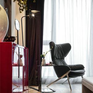 新古典美式风格客厅软装效果图