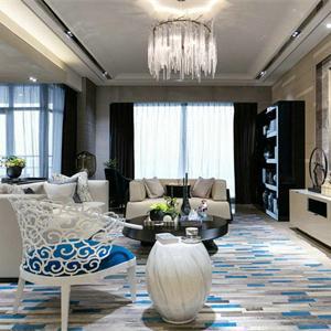 130㎡地中海风格客厅装修设计图