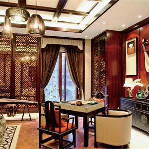 中式風格別墅客廳裝修效果圖