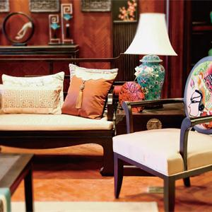 三居室中式风格客厅装修效果图