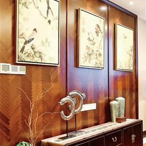 現代中式風格三居客廳裝修效果圖