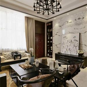 145平現代中式風格客廳裝修效果圖