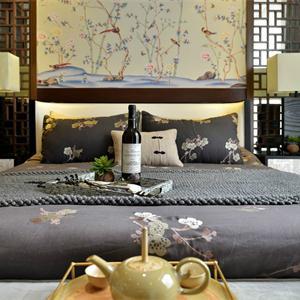 現代中式風格三居臥室裝修效果圖