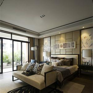 135平古樸中式風格臥室裝修效果圖
