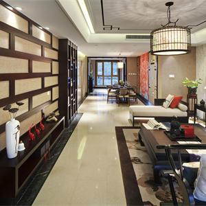 160平米中式风格餐厅客厅装修效果图