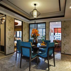135现代中式餐厅装修效果图