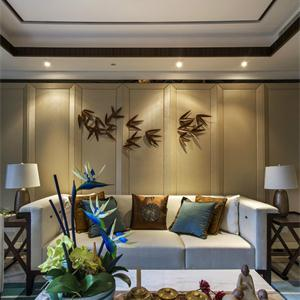 200平中式風格客廳裝修效果圖