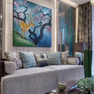 地中海三居室客廳裝修效果圖