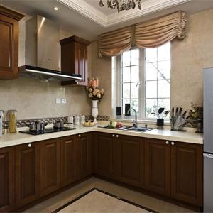 新古典美式風格別墅廚房裝修效果圖