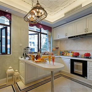 歐式風格三居廚房裝修效果圖