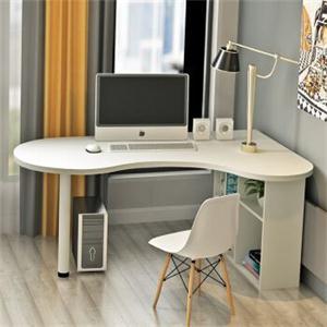 4個臥室弧形書桌布置方法 不規則書桌一樣很好看