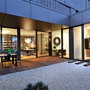 别墅法式简约户外花园装修设计图
